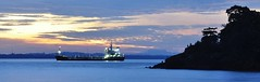 Balikpapan akhir petang (cliftrick) Tags: sunset island ship balikpapan flickrandroidapp:filter=none viewfromhelipad