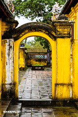 Hue Imperial City 24 (hughderr) Tags: old city travel yellow colorful flickr citadel vietnam adventure imperial ornate hue royalty wanderrlust