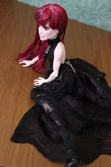 Wanda (the_alien_experience) Tags: woman black girl fashion monster high model doll lace redhead wig create gown trans couture