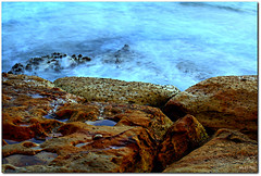 Outcrop ('Mick's Pics') Tags: ocean sea seascape water canon flickr manly sydney nsw barnacles newsouthwales manlybeach rockpool northernbeaches canonphotography colouredrocks