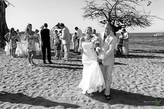 And May We Present to You.... (Rock Steady Images) Tags: camera wedding vacation bw tree beach smile canon happy eos groom bride sand costarica couple married dress events places equipment celebrations cameras 7d processing handheld 200views 50views lenses topaz riu guanacaste 25views niksoftware bypaulchambers speedlite430exii canonef2470mmf28iiusm lightroom4 photoshopcs6 rocksteadyimages riuguanecaste
