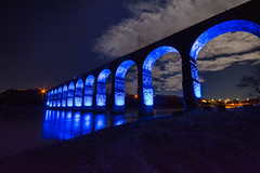 The Royal Border Bridge - Berwick (Gopostal1) Tags: bridge london robert by last was edinburgh border royal railway running line led link berwick between stephenson designed continuous the completing vision:outdoor=077 vision:dark=0601 vision:sky=0801