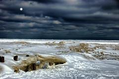 Frozen Pier - EXPLORED (Goromo) Tags: pier frozen lakemichigan evanston lighthousebeach oldpier winter2014