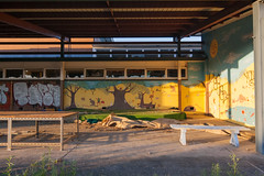 Lalor Park Primary #9 (Jennifer Lea) Tags: school light sunset shadow abandoned yellow decay melbourne urbanexploration graffitti