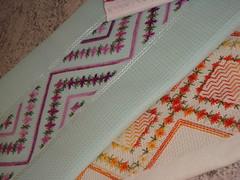 Panos de Copa bordados em ponto crivo. (Casa de Bonecas Atelier) Tags: embroidery ponto bordado crivo bainhaaberta pontocrivo
