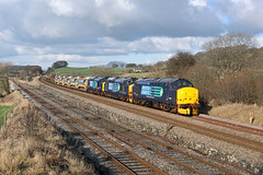 37405+37423+37610 DIT Settle Junction 28th February 2014 (John Eyres) Tags: junction crewe carlisle settle drs 37405 37423 37610 6k05