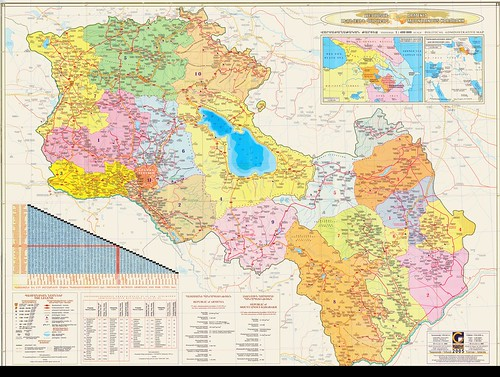 "Armenia with Karabakh Huge Map <a style=""margin-left:10px; font-size:0.8em;"" href=""http://www.flickr.com/photos/119555805@N07/13258762534/"" target=""_blank"">@flickr</a>"