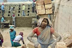 Brick factory (PawelBienkowski) Tags: india work brickfactory indiawoman brickfactories