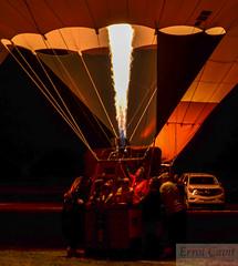 Flame on (errolgc) Tags: newzealand balloon hamilton universityofwaikato balloonsoverwaikato2014 nightglow2014