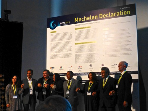 Firma de Declaración de Mechelen, Reunión de Redes Regionales, Cumbre Mundial de Centros de Ciencia, Bélgica 2014