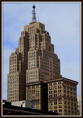 View From Cobo Rooftop Parking # 2--Detroit MI (pinehurst19475) Tags: city urban skyline architecture skyscraper downtown view michigan detroit architect penobscot cityview tallbuilding shg penobscotbuilding wirtrowland wirtcrowland smithhinchmangrylls coborooftopparking