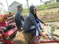 Driving the Hand Tractor (cbe-sep) Tags: nor ariston charlito handtractor bamboopalace