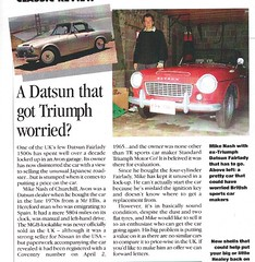 1993 article on 1965 Datsun Fairlady 1500 (Spottedlaurel) Tags: 1500 datsun roadster fairlady classicsportscar erw736c