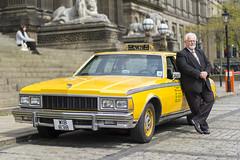 Taxi! (Zo0Bear) Tags: street new york portrait chevrolet yellow big taxi leeds 1978 humans hol caprice portraity
