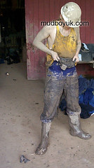 ready for work (MudboyUK) Tags: man guy mud boots dirty overalls worker filthy wellies muddy bootsmudfetish