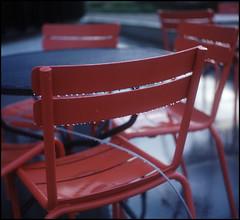 Chair Drops (Hans Kerensky) Tags: 120 tlr film rain drops chair kodak scanner mat 124g nl portra yashica 160 helmond plustek aae opticfilm anywhitefieldtagbyflickrsspamtagbot