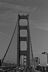 Golden Gate (jibranjjalil) Tags: sanfrancisco red usa blackwhite goldengate incredible firsttime bigbus amzaing