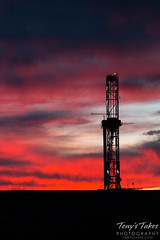February 6, 2015 - Sunrise on a fracking site in Weld County. (Tony's Takes)