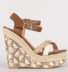 "strappy geo woven open toe platform tan multi • <a style=""font-size:0.8em;"" href=""http://www.flickr.com/photos/64360322@N06/16163958768/"" target=""_blank"">View on Flickr</a>"