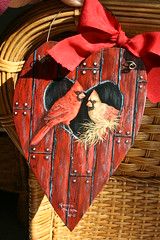 Valentine heart painting of red cardinals by sherrylpaintz (sherrylpaintz) Tags: original red usa holiday love nature floral barn woodland painting design colorful artist heart natural cardinal folk ooak decorative wildlife country victorian birdhouse style valentine american romantic chic custom majestic acrylicpainting whimsical treasures patina realism primitive dcor malecardinal femalecardinal realistic cherish red redbirds art bird artist american wood style hand weathered painting wall wildlife folk primitive painted chic shabby decorative barn cardinal sherrylpaintz decorating distressed