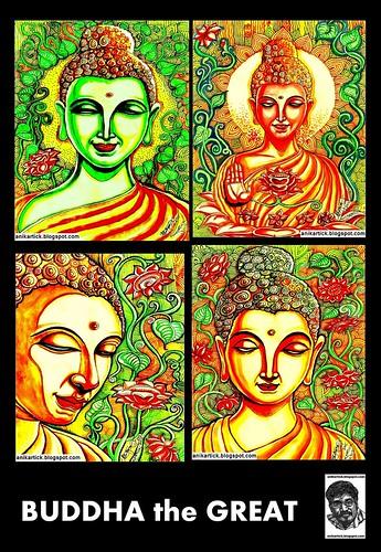Sketch Buddha Doodle Art