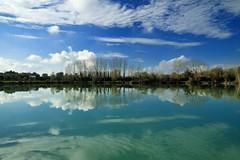 Riflesso (luporosso) Tags: italy naturaleza reflection nature water clouds reflections nikon italia nuvole natura acqua riflessi reflexo marche riflesso reflexes naturalmente luporosso nikond300s