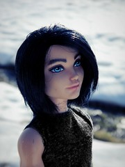 Alex (mijalien) Tags: toy toys doll dolls ooak charming custom dexter mattel saran reroot eah blackhait everafterhigh