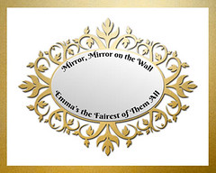 Mirror Mirror On The Wall (paintedprintcess) Tags: flowers baby white art children gold mirror bedroom child nursery border reflect etsy ornate snowwhite personalize nurseryrhyme artprint mirrormirroronthewall
