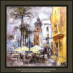 CADIZ-PINTURA-ANDALUCIA-PAISAJES-ARTISTA-PINTOR-ERNEST DESCALS (Ernest Descals) Tags: pictures city light urban españa paisajes sun color art blanco luz sol painting palms landscape luces spain artwork paint artist village arte paintings cities restaurants paisaje palmeras colores andalucia ciudades fotos artistas painter cadiz cafeteria painters pintor pintura pintores restaurantes pintar cuadros artistes pinturas artista cuadro oleo paisajeurbano paisatges oleos terrazas cafeterias andaluces gaditanos ciudd ernestdescals pintorernestdescals obrasernestdescals