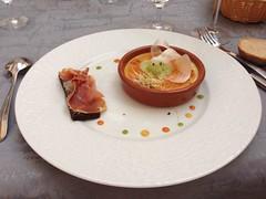 Crme brle aux asperges, toast au jambon Serrano, Le Thou, Bouligneux, France (Creusaz) Tags: france toast serrano jambon crme thou asperges brle bouligneux