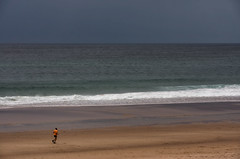 'On and On' (Canadapt) Tags: ocean man praia beach sand solitude surf waves alone atlantic runner jogger canadapt