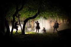(maxlaurenzi) Tags: wood trees light summer italy castle fog night forest dark painting women surreal medieval creepy silence dreamy reenactment montichiari