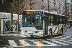 MITSUBISHI FUSO Aero Star_LKG-MP37FK_Adachi200Ka2509 (hans-johnson) Tags: blue bus japan canon eos star tokyo transport transportation transit nippon fuso 70200 mitsubishi hitachi nihon kanto aero marunouchi yurakucho chiyoda eos5d   5dm3
