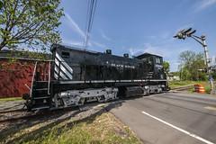A Brief Return (Nick Gagliardi) Tags: railroad black train river trains western pup sw1 brw switcher emd sw1500 sw1200rs bdrv