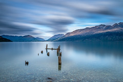 Ruins (Stefan Nikoloff - Photography) Tags: lake mountains clouds landscape ruins long exposure flat jetty wharf waterscape