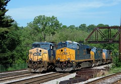 Out with the old, in with the new (Trains & Trails) Tags: diesel pennsylvania engine transportation locomotive ge generalelectric brightfuture csx 326 fayettecounty connellsville yn2 gevo ac44cw 3246 darkfuture widecab q358 yn3b es44ach l394