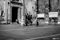 6X1B2183 (ABenyon_Photo) Tags: street old city travel blue venice sky people history water architecture boat blackwhite