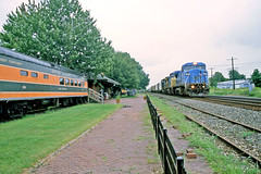Unlikely Place to Find Great Northern (craigsanders429) Tags: csx greatnorthern passengercars northeastpennsylvania csxtrains lakeshorerailwaymuseum csxeriewestsubdivision lms7919