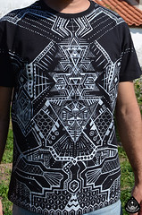 alien (foundinaforest) Tags: white black fashion clothing map metallic alien tshirt symmetry mens symmetric psychedelic cyber foundinaforest