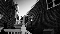 Quaint Shops in Perkins Cove (Mattkazz89) Tags: sunset blackandwhite noir village maine quaint perkinscove