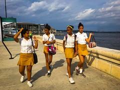 Havana. Cuba (H.L.Tam) Tags: street school students havana cuba sketchbook cuban schooluniform iphone habanavieja photodocumentary cubanfaces iphone6s harbana cubanschooluniform cubasketchbook cubanschoolstudents