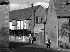 Bourton-on-the-water (gerben more) Tags: street uk england people house monochrome blackwhite village streetlife streetscene cotswolds