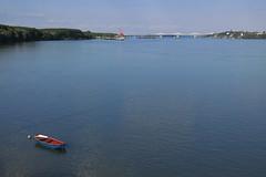 Vidin - Danube River with Danube Bridge 2 (lyura183) Tags: river boat bulgaria danube donau vidin