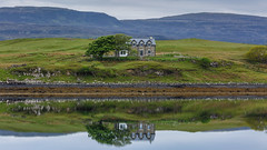 Morning Reflection (myca28) Tags: morning house reflection skye home water scotland loch isle kinloch campsite dunvegan