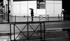 Under the umbrella (pascalcolin1) Tags: blackandwhite reflection rain umbrella noiretblanc pluie reflets streetview parapluie paris13 photoderue urbanarte photopascalcolin