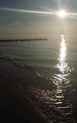 (Stopyransky) Tags: light sea sun beach water gold poland baltic bigblue sunray chlopy