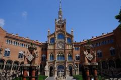 Hospital de Sant Pau (1) / Barcelona / Catalunya (Catalua-Catalonia)  [Explore 29-06-16] #276 (Ull mgic) Tags: barcelona arquitectura fuji catalonia porta catalunya catalua modernisme edifici hospitaldesantpau escales xt1