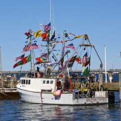 Flagged (Read2me) Tags: she cye capecod fishingboat harbor dock pier flags pregamechallengewinner friendlychallenges thechallengefactory gamewinner