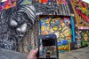 Where My Bike Takes Me (jomak14) Tags: bicycle fixedgear 2016 newyorkstreetart bianchipista fisheyeview goprohero3 wellingcourtmuralproject wheremybiketakesme