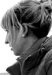 Street Portrait (patrick_milan) Tags: street portrait people blackandwhite bw woman white black girl monochrome closeup women noir noiretblanc femme bretagne nb britanny rue fille blanc personne streetview gens finistre candide plouguin